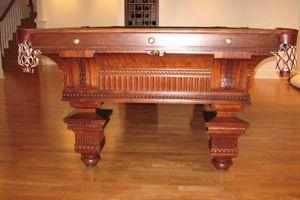 Incredible Table Produced By Brunswick In The 1890s With Intricate Woodwork  Detail. Same Model Located In The White House. Available 4.5u0027 X 9u0027  Regulation ...