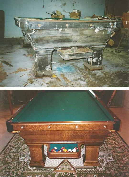 Clic Billiards Antique Pool Tables