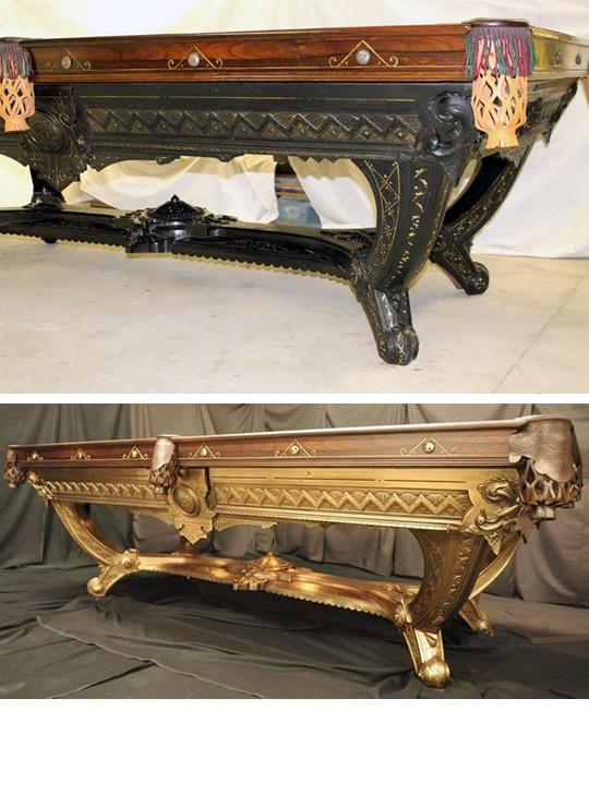 Classic Billiards Antique Pool Tables Before After