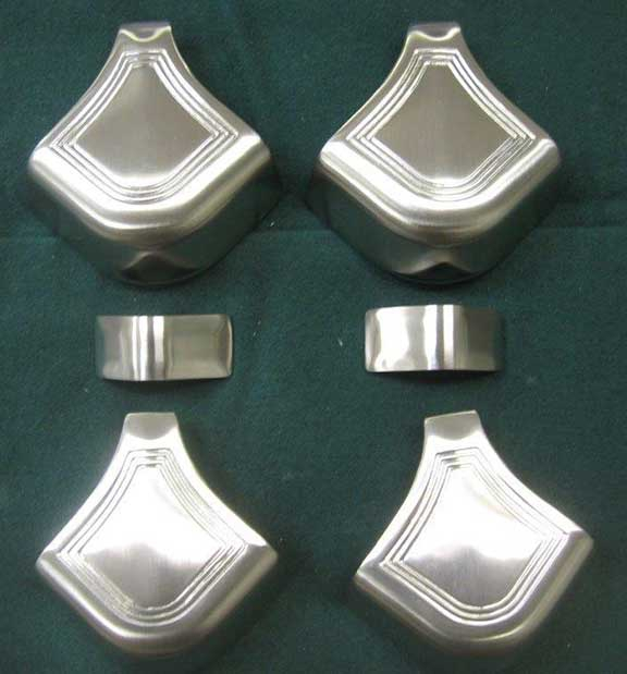 Satin Nickel Finish Brunswick Rail Caps - Pool table rail caps