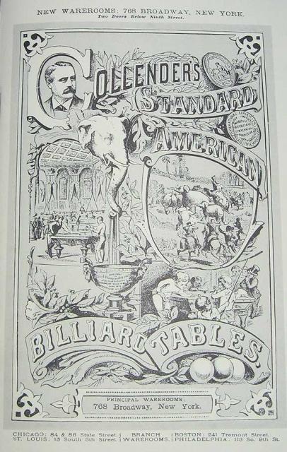 Copy Of H W Collender Catalog Circa 1878