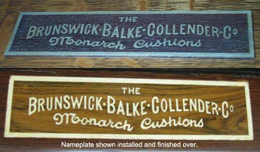 Plain Letter Style Inlay Wood Reproduction Nameplate