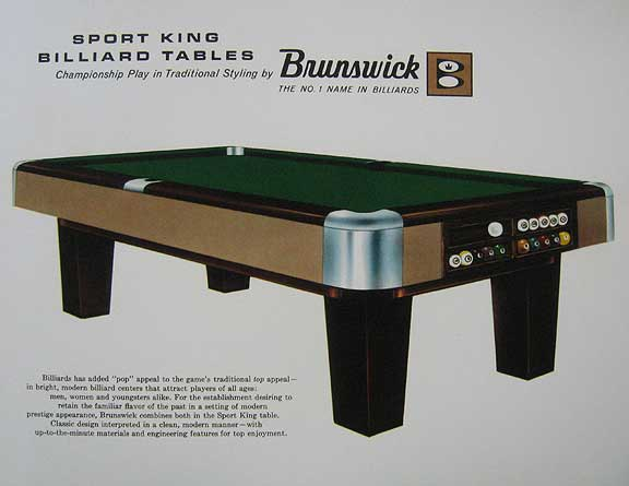 Brunswick Hand Out Sport King 1960s Classic Billiards