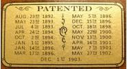 Patent Decal for several Brunswick models (3 in. x 1.5 in.)