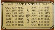 Patent Decal for Union League Brunswick tables & others (3 in. x 1.5 in.)