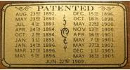 Patent Decal for Brunswick Tables including The Wellington
