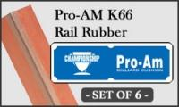 Pro-Am K-66 Rail Rubber Cushion - set of 6