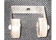 Replacement Cue Retaining Clip with Leather Holders for early 1900's Cue Racks