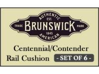 Brunswick Centennial/Contender Rail Cushion - set of 6
