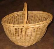 Handwoven Reproduction Basket for ball rack