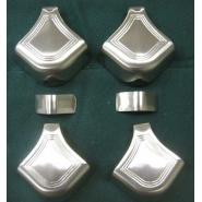 Satin Nickel finish Brunswick Rail Caps