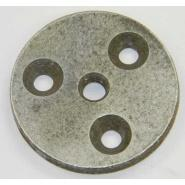 Steel 2.25in Round Under Rail Plate