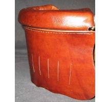 Brown Leather Pockets with brown inside trim & gully boots (#6 irons)
