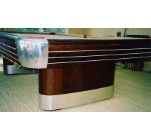 Replacement Satin Finish Aluminum Leg Bandings for Anniversary model pool tables