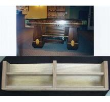 Two shelf ball storage unit was a factory option on many Brunswick pool tables from the 1920s. Walnut front.