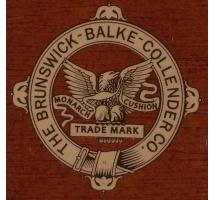 Brunswick Balke Collender Eagle Cue Decal with bronze life saver