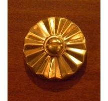Antique Fluted Style Brass Rosette