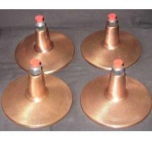 Gold Crown Bronze finished feet (set of four)