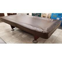 9' Leather Vinyl Gold Crown Pool Table Cover