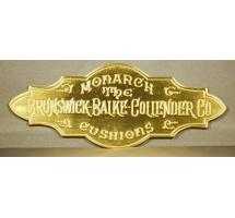 Reproduction of Antique Brunswick™ Nameplate stamped in solid brass
