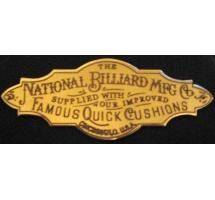 National Billiard Company Engraved Solid Brass Nameplate