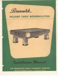 Antique Billiard Pool Tables Service Manuals - Brunswick dunham pool table