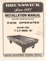 Antique Billiard Pool Tables Service Manuals - Brunswick brentwood pool table