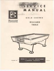 Gold Crown 1 Service Manual (1961)