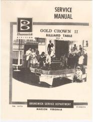 Gold Crown 2 Service Manual (1974)