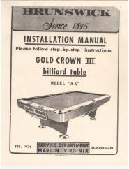 Gold Crown 3 Service Manual (1976)
