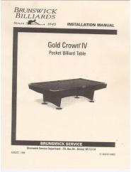 Gold Crown 4 Service Manual (1998)