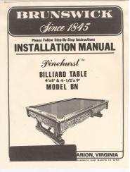 Antique Billiard Amp Pool Tables Service Manuals