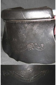 Original Style Black Leather No. 6 pockets with Brunswick Logo