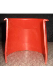 4 in. Red Plastic Pocket Liner