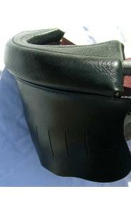 Black Leather Pockets with red inside trim & gully boots (#6 irons)